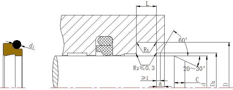 DSH-Wiper Ring, Dsz-rod Scraper Ptfe Hydraulic Wiper Ring-6