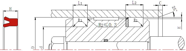 DSH-Find Hydraulic Piston Seal Design U-cup Hydraulic Piston Seal-5