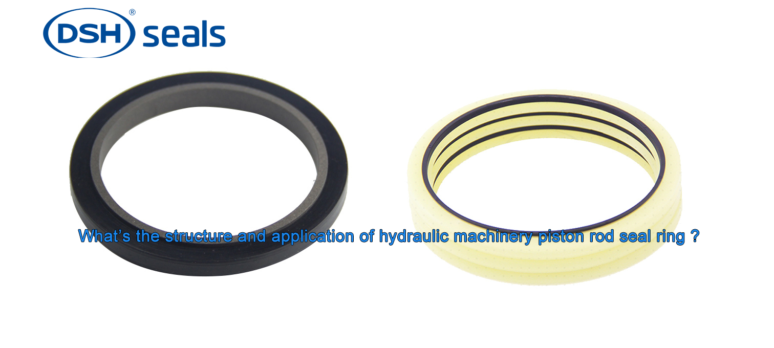 DSH-What's The Structure And Application Of Hydraulic Machinery Piston Rod Seal Ring